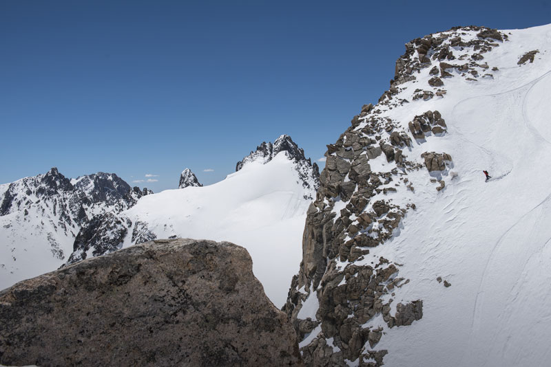 Jimmy Goodman descends Gannet Peak in Wyoming's Wind River Range. Photo: Chris Figenshau