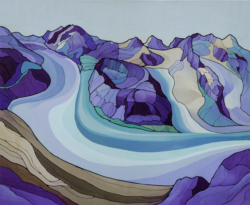 """Gorner Glacier""by Iuna Tinta"