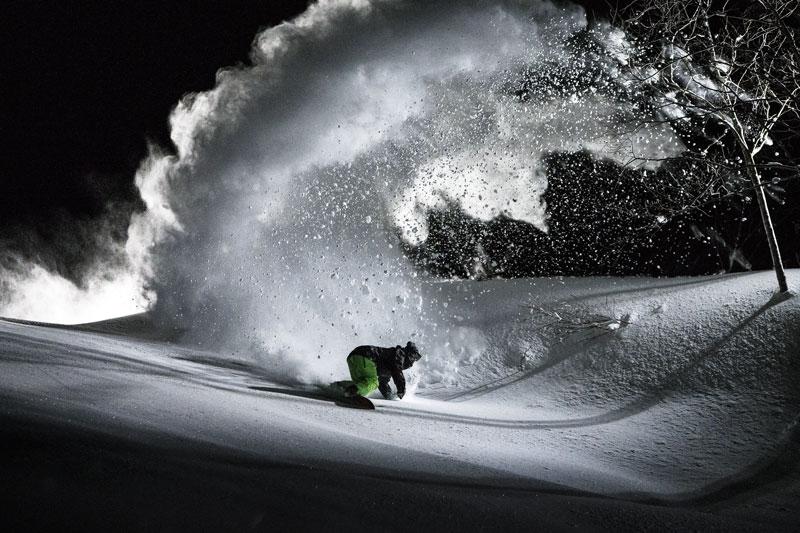 Mark Landvik owns the night like batman in Hakuba, Japan.Photo Credit: Scott Serfas/Red Bull