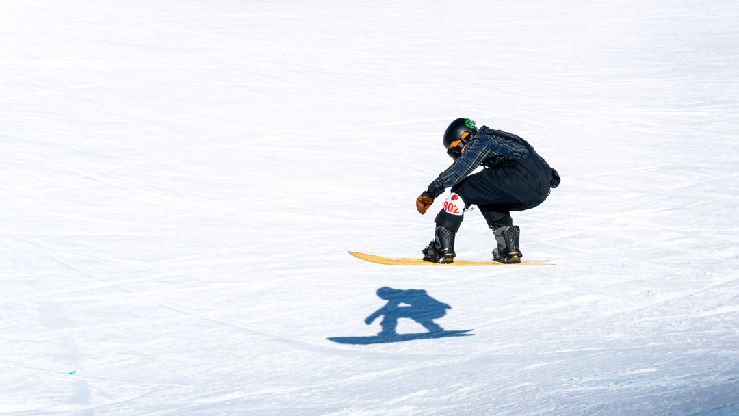 Snowboarder at the 2019 Grand Targhee Surf Classic