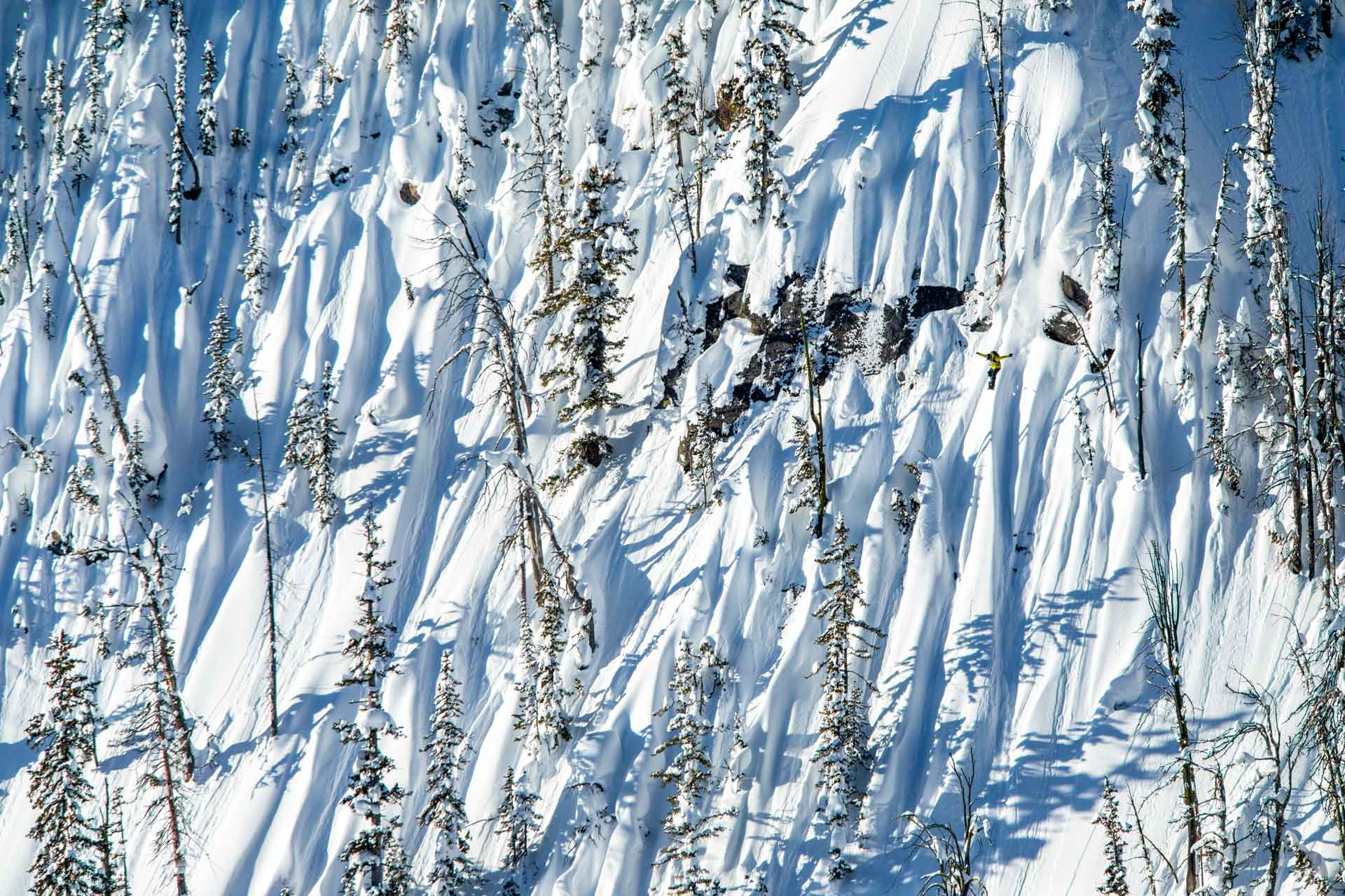 Snowboarder in the backcountry.